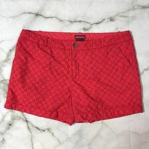 Merona Cut Out Pattern Shorts